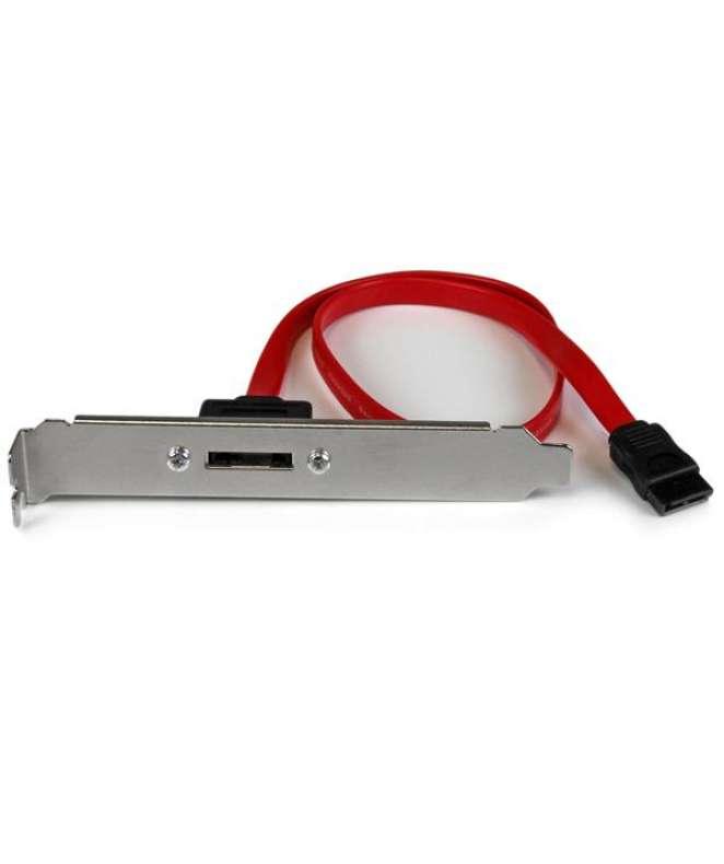 Adattatore su Staffa SATA a eSATA - Scheda Serial ATA ad eSATA ad 1 porta con cavo da 45 cm