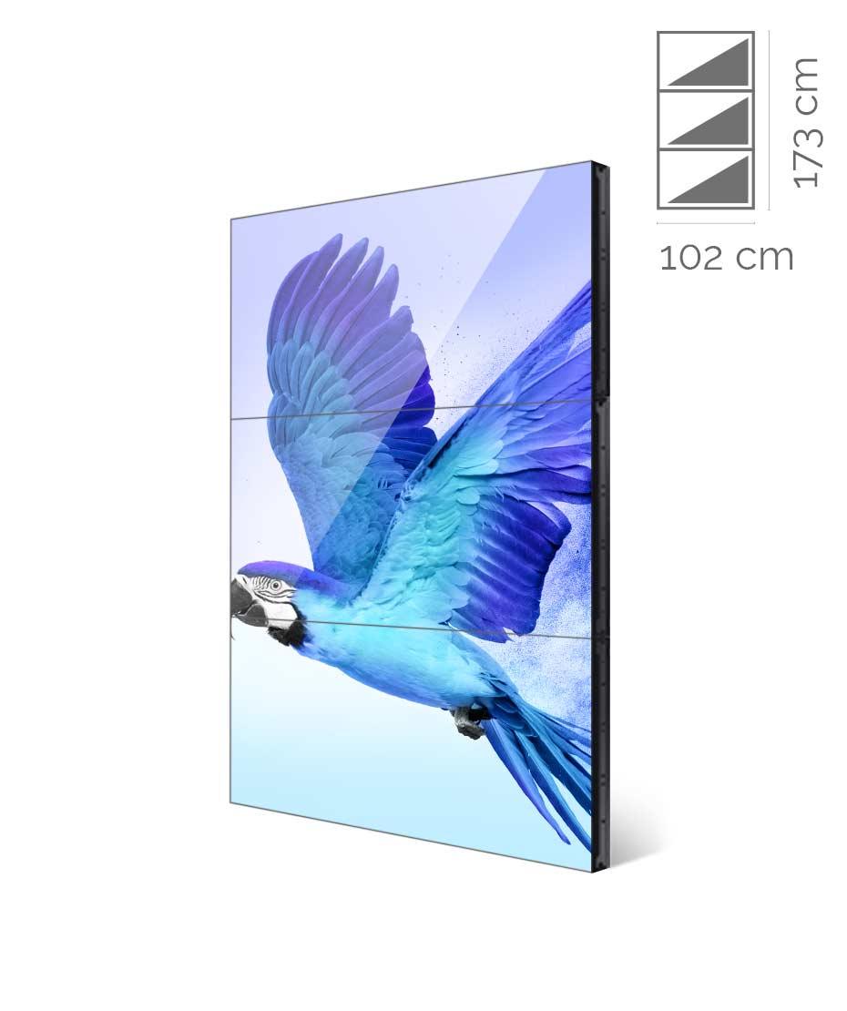 Videowall Samsung Mod. VM46R-U 1x3 con player interno