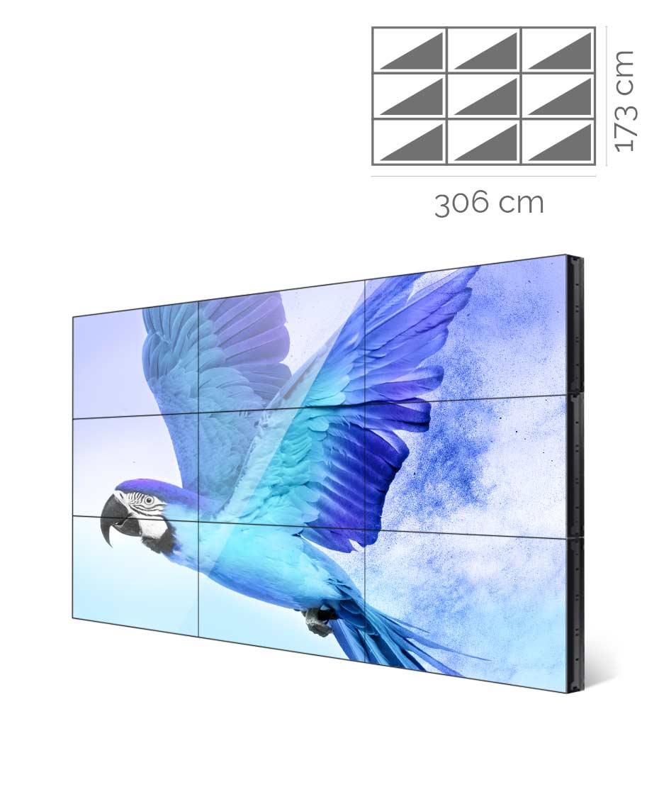 Videowall Samsung Mod. VM46R-U 3x3 con player interno