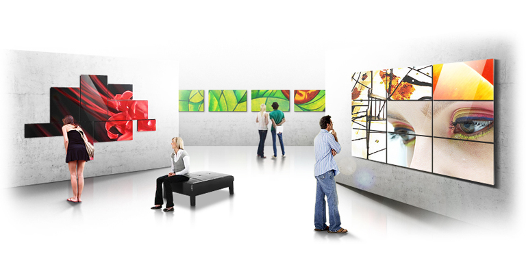 Videowall irregolare (Art Wall)