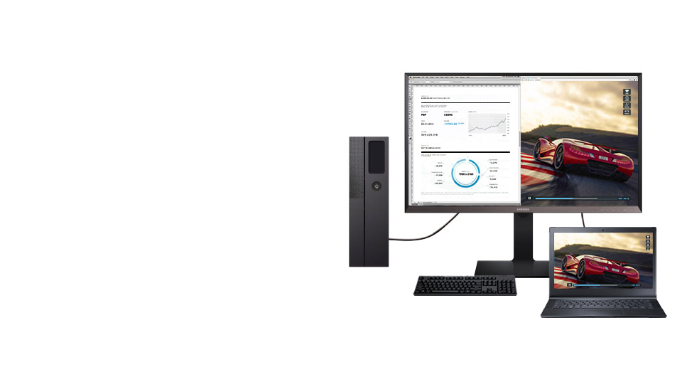 Usa un solo monitor WQHD per visualizzare 2 contenuti differenti
