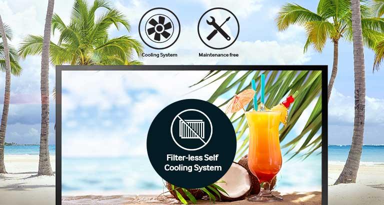 Sistema di auto-raffreddamento che non richiede filtri o manutenzione