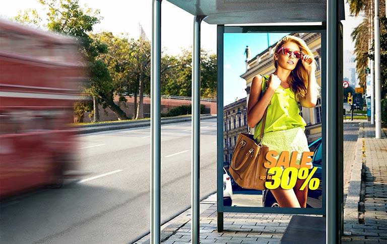 Grandi display ottimizzati per il Digital Signage esterno