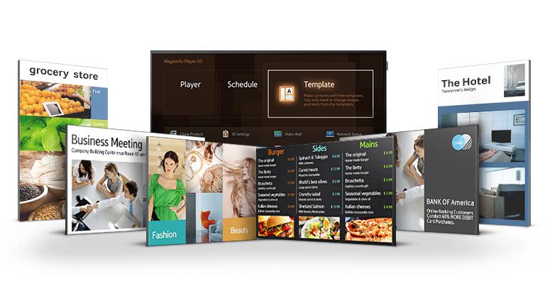Gestione agevole del digital signage con interfaccia utente Home semplificata