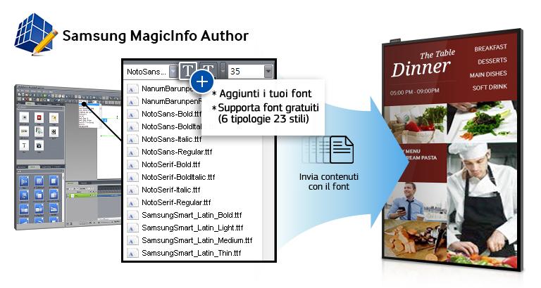 Trasforma i messaggi del tuo business con un semplice strumento per la creazione dei contenuti, che include font gratuiti, pratici sticker, effetti dinamici e widget dedicati alla meteorologia