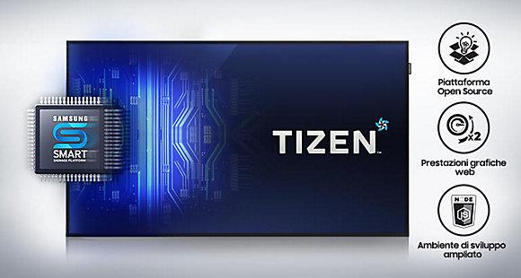 Lettore multimediale integrato con sistema operativo TIZEN™