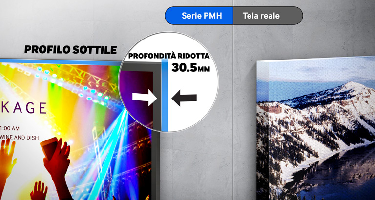 Gli eccellenti e resistenti display della Serie PMH ottimizzano la gestione operativa e la qualità dei messaggi in qualunque ambiente