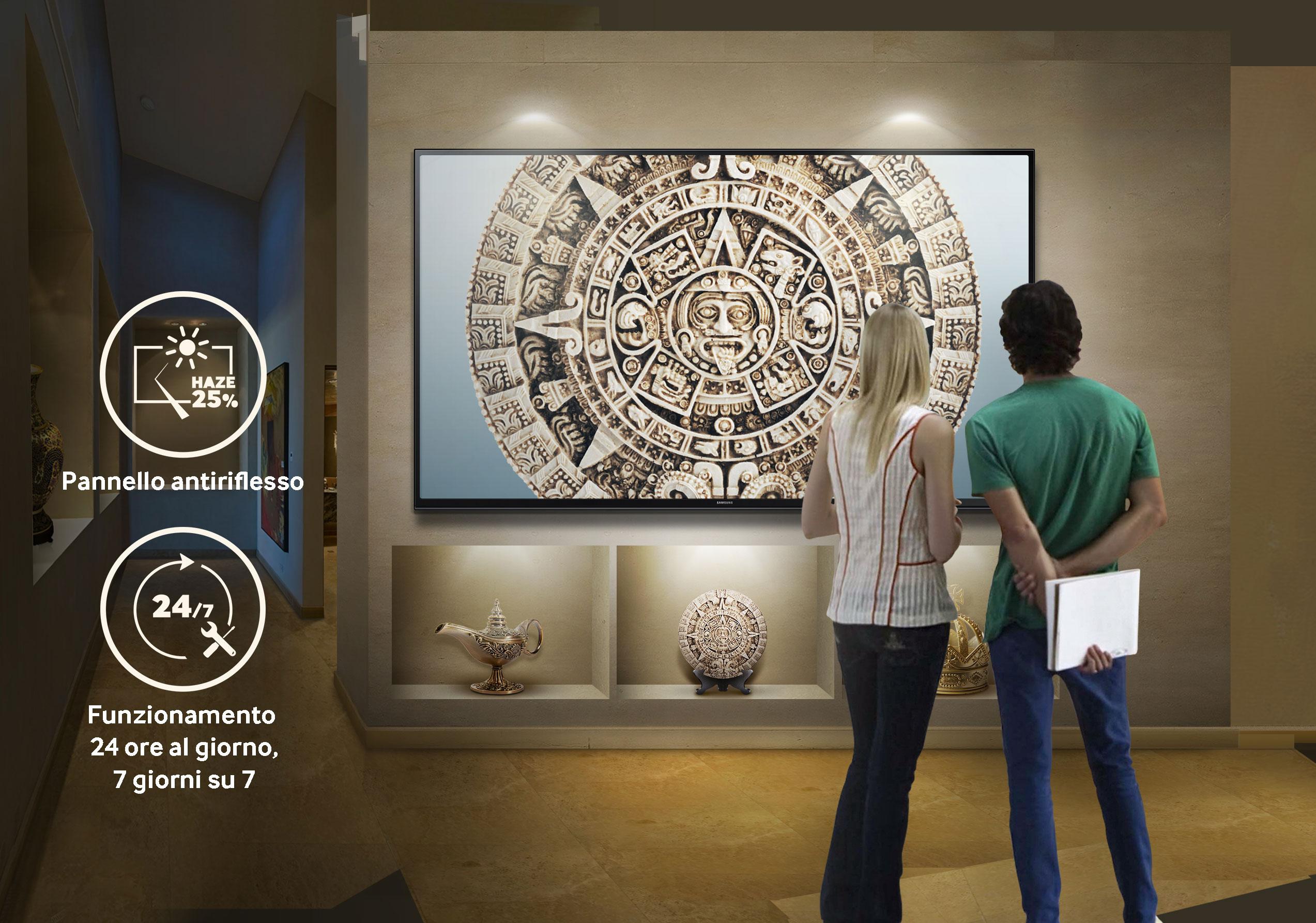 Il nuovo schermo UHD della serie QMF 2016 pensato per gli ambienti commerciali