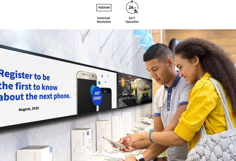 Ottimizza spazi e contenuti con le soluzioni Samsung SMART Signage
