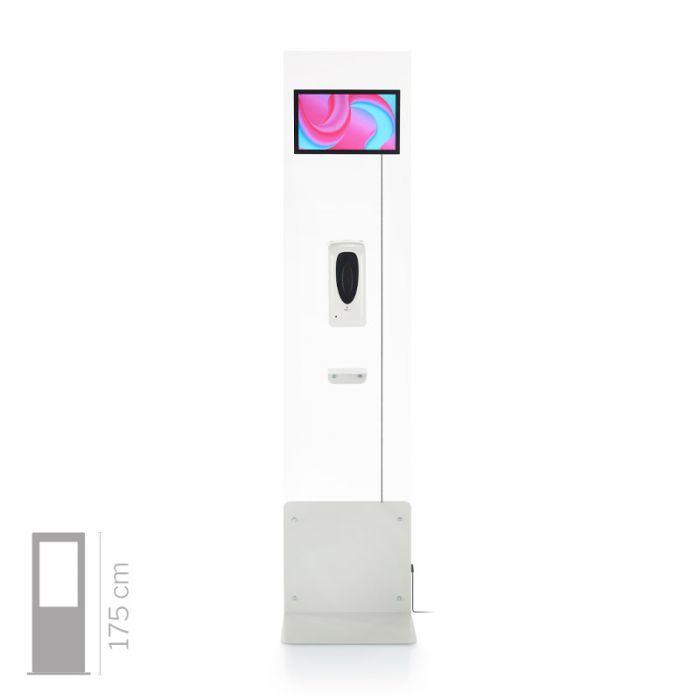 Totem Multimediale mod. Domina Health 13 con dispenser gel automatico - sterilizzatore e sanificatore