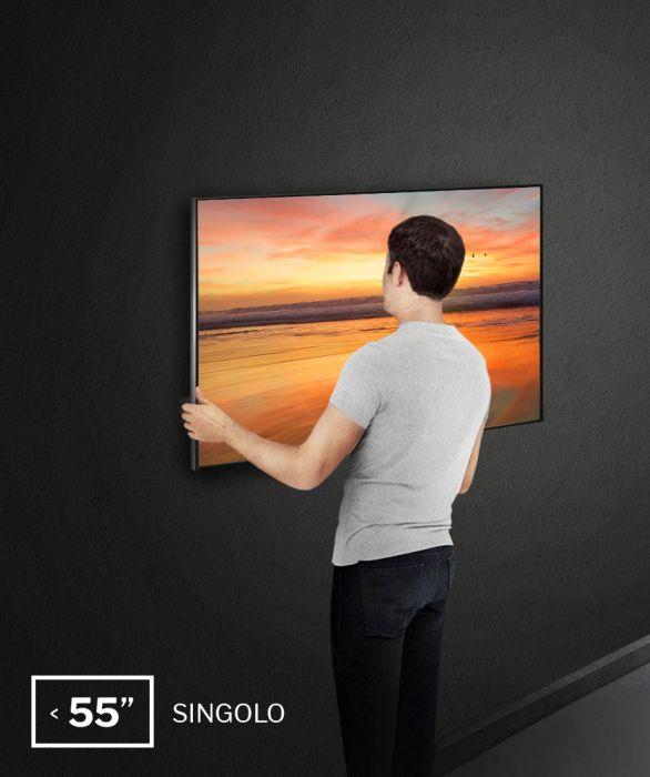 """Installazione a parete monitor da 43"""" a 55"""", single installation"""