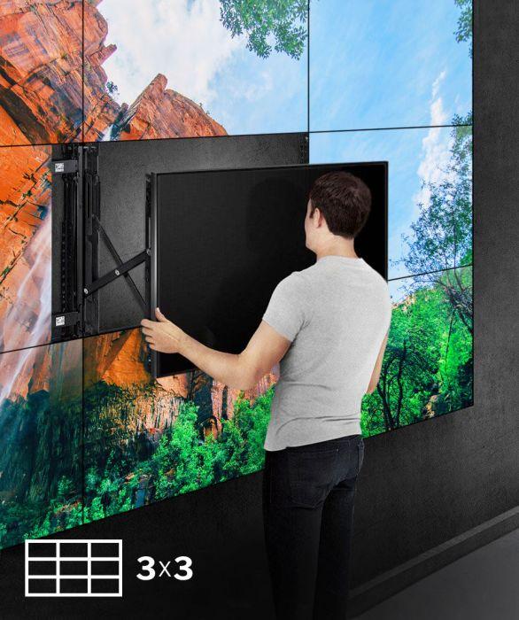 Installazione a parete Videowall 3x3