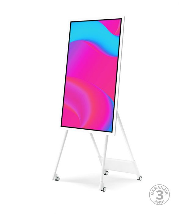 """Lavagna multimediale Samsung FLIP 2 con display da 55"""" completa di carrello"""