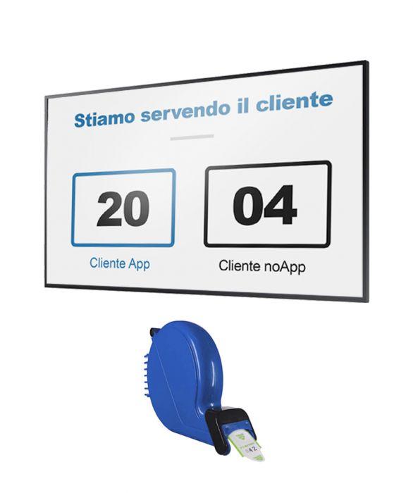 "Monitor 50"" QB50R + Software eliminacode (Visore) + chiocciola ticket"
