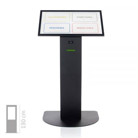 """Totem multimediale, display 32"""" touch screen e stampante ticket  con software eliminacode (KIOSK)"""