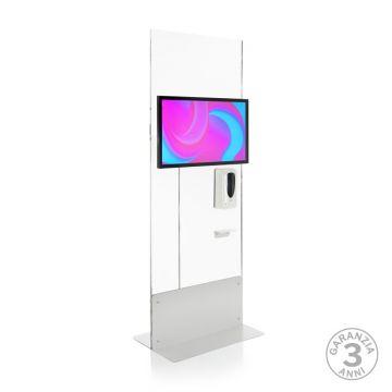 Totem Multimediale mod. Domina Health L 32 con dispenser gel automatico - sterilizzatore e sanificatore